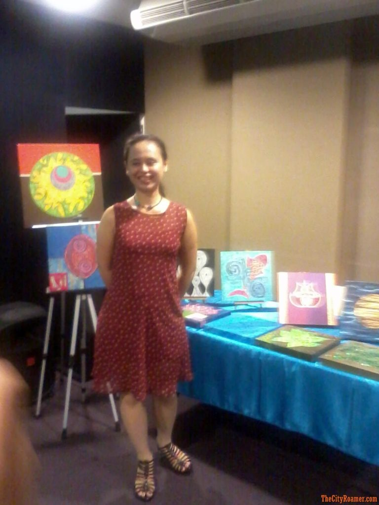 Juno Parungao and her works of art at the Art, Astrology and Crystology Seminar