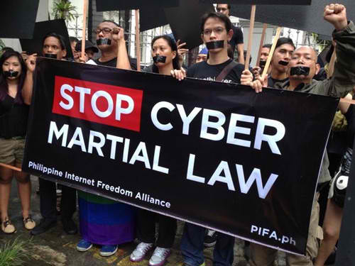 Cybercrime Law Protest