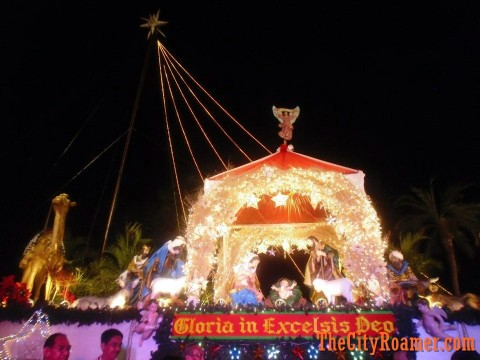Araneta Center Belen Display in the evening