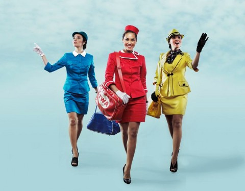 The Girls of Repertory's BOEING BOEING - Giannina Ocampo, Jennifer Blair-Bianco, Carla Dunareanu