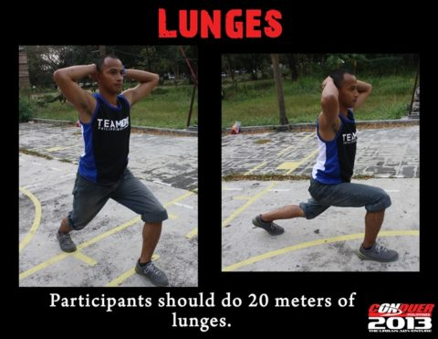 CONQUER PHILIPPINES-lunges