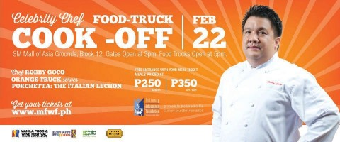 Chef Robby Goco's Orange Truck at the Food Truck Cook Off