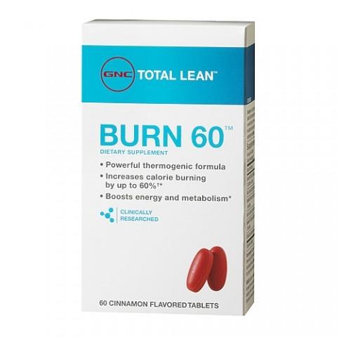 GNC Total Lean Burn 60 Cinnamon Flavored Tablets