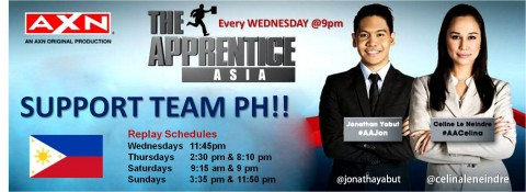 The Apprentice Asia -Jonathan Yabut - Celina Le Neindre - #TeamPH