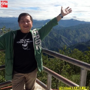 At the viewing deck of Mount Cabuyao