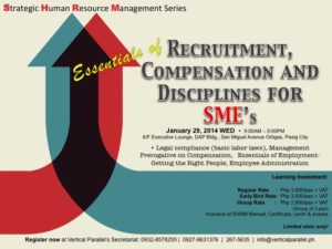 Essentials of Recruitment, Compensation and Disciplines for SMEs