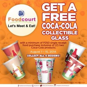 Get a Free Coca-Cola Collectible Glass at SM Food Court