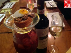 A glass of Sangria at Tapeo The Fort Strip