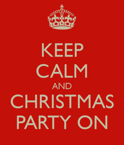 Keep Calm and Christmas Party On