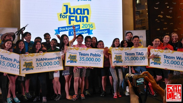 The Teams for Juan For Fun Backpackers Challenge 2016