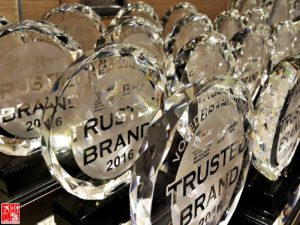 Readers Digest Trusted Brand 2016 Trophy