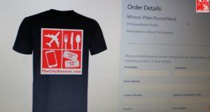 Customizing a shirt at CustomThread