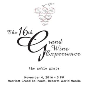 16th Grand Wine Experience on November 4