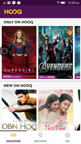 HOOQ on my smartphone