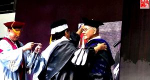 Cong. Sonny Belmonte conferred at the MLQU 69th Graduation Rites