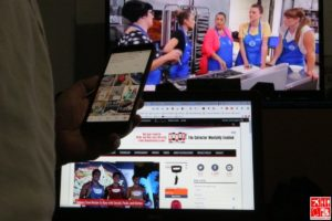 A multi-screen lifestyle at work or play