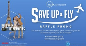RCBC Savings Bank Save Up and Fly Promo