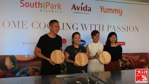 Chef Francis Lim with Avida and YummyPH executives at the launch