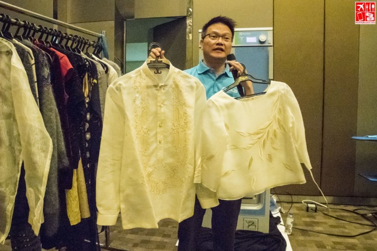 Barong made of Jusi can be wet cleaned better with the Lagoon Advanced Care system
