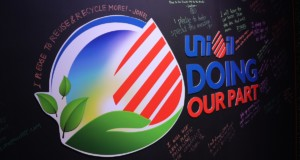The Unioil Doing Our Part commitment wall