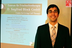Dr Daniel Block of D Siegfried Block GmbH - Centre for Living Cell Therapy