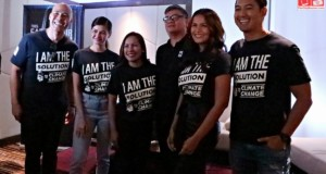 WWF-Philippines National Ambassadors Rovilson Fernandez Marc Nelson, Iza Calzado with National Youth Ambassador Janine Gutierrez with Joel Palma and Atty Gia Ibay