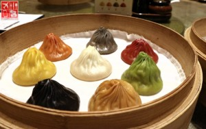 Specialty Dynasty Xiao Long Bao (8 Flavors – Php388) - Original (white)-Ginseng (green)-Garlic (brown)-Black Truffle (black)-Cheese (yellow)-Crab Roe (Orange)-Foie Gras and Szechuan (red)