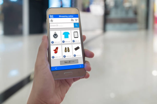 Online shopping with a smartphone