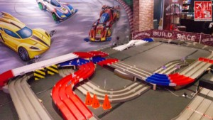 The racetrack at the bigger and better BrickYard in Glorietta 2