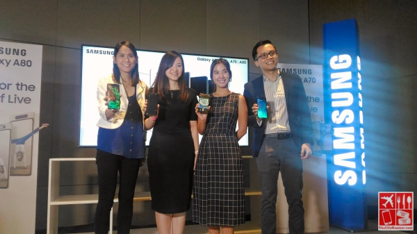 Samsung Philippines Executives at the launch of Samsung A Series smartphones