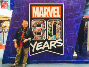 Alwin Aguirre attending the Marvels 80 at SM launch