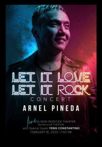 ARNEL PINEDA Let It Love Let It Rock Concert Poster