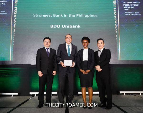 The Asian Banker recognized BDO as the Philippines' Strongest Bank for 2nd straight year