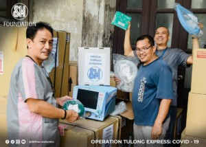 PPEs and medical supplies distributed by SM