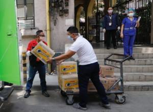 Universal Robina Corporation donates products to several hospitals