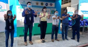 A handwashing facility built under Safeguard's #WASHinPandemic program in Pasig City