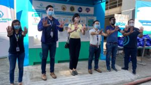 A handwashing facility built under Safeguard's #WASHinPandemic program in Pasig City