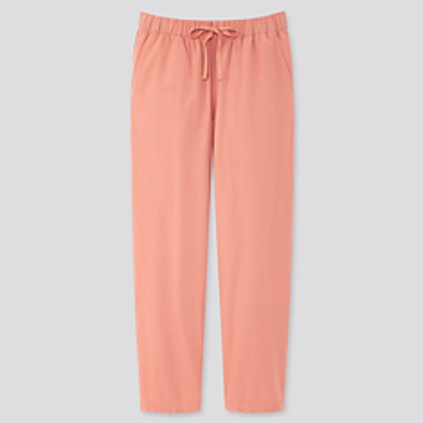 Women's Cotton Relaxed Ankle Pants at UNIQLO SM City MindPro