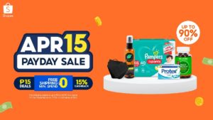 Shopee April 15 Payday Sale