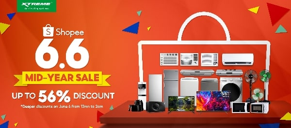 XTREME Appliances discount at the Shopee Mid-Year Sale