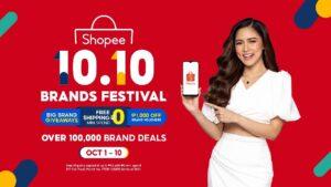 Shopee Brand Ambassador Kim Chiu kicks off 1010 Brand Festival