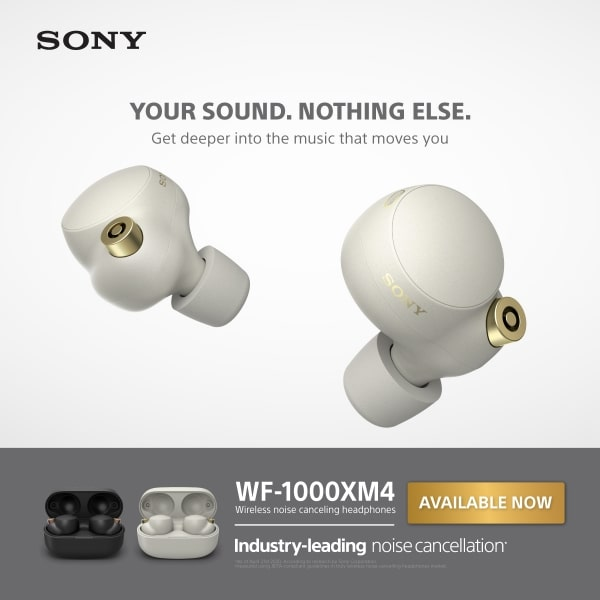 Sony WF-1000XM4 Now Available!