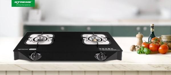 Xtreme Appliances - Two-Burner Stove XGS-2BGLASS