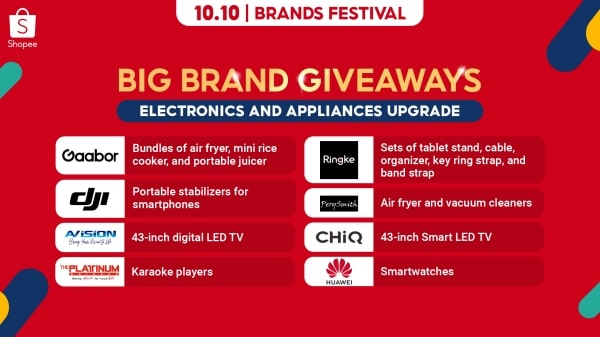 Have an electronics and appliances upgrade from the big brands