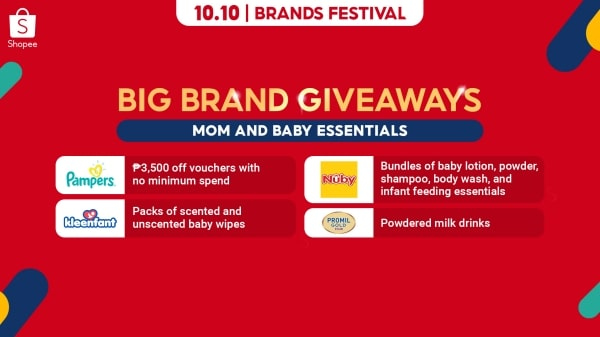 Big Brand Giveaways for moms and babies