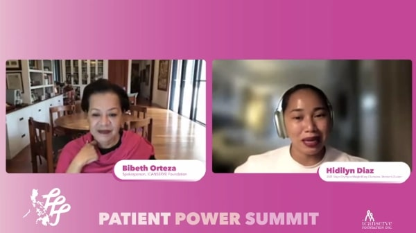 Olympic Gold Medalist Hidilyn Diaz at the Patient Power Summit